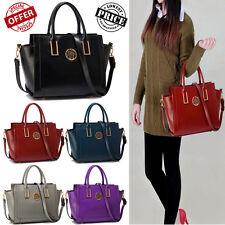 Womens Designer Shoulder Bag Ladies Celebrity Style Faux Leather Tote Handbag