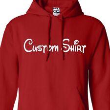 Custom Disney Text HOODIE Personalized Family Vacation Cruise Jumper Sweatshirt