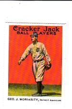 1914 CRACKER JACK #114 G MORIARITY DOVER REPRINT 1982