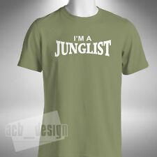 Yo soy un Junglist Hombre Camiseta de selva Tambor Bajo Hyper D Congo Natty Old Skool Rave