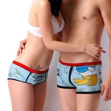 Disney Underpants Underwear Women Brief Couple Brief Boxer Donald Duck Blue U-53