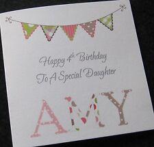 Personalised Birthday Card Daughter Granddaughter Goddaughter Niece etc (G25)