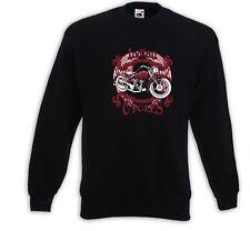 Biker Pullover Indian Rot Motorcycle Bike Racing USA Custom  Tattoo