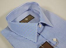 Camicia classica uomo a righe azzurro Duca Visconti in cotone tutte le taglie