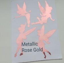 Tinkerbell/fée Autocollant Vinyle Autocollants Ensemble De 4 Or Rose/Violet/Rose toute couleur