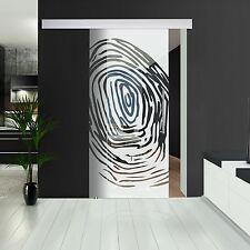 """Glasschiebetür 144-2-F-ALU60 Klarglas ESG 8 mm Dekor """"Fingerprint"""""""