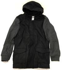 URBAN CLASSICS black charcoal hooded jacket man giacca nero carbone cod. TB1161