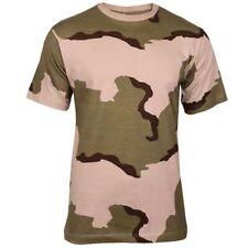 Mil-Tec Herren US Army T-Shirt Tarnshirt Größen S – 3XL Desert 3-color Tarn