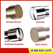 Speedy Poles Apart 28mm End Cap Curtain Pole Finials, 2 Pack 4 Colours FREE P&P