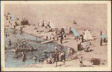 SAINT-THIBAULT (18) Tente de PLAGE , BAIGNADE animée