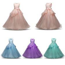 NUOVO Alla Moda Abito Da Damigella D'onore Matrimonio Principessa Ragazze Dress Party bambini vestiti