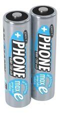 2er ANSMANN NiMH Akku Batterie für Schnurlostelefon Mignon AA 1,2V 1300mAh maxE