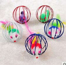 3 X Cat Kitten Toy Cage Balls Pet Mouse Rat Playing Fun Toys 6cm Diameter Gift