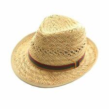 UNISEX STRAW TRILBY PORK PIE FEDORA HAT SUN HAT CAP 57-59 CM Music Festiva