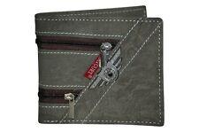 Mens Faux Leather Tri Fold Plain Credit Card Holder Boys Purse Coin Wallet