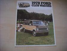 26082) Ford Club Wagons USA Prospekt 1978