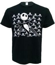 JACK SKELETON la Nightmare Before Christmas BAT Unisex Nero T Shirt Top