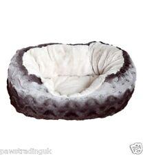 Grey & Cream Snuggle Plush Dog Pet Indoor Bed Cosy Soft Puppy Warm Good Quality