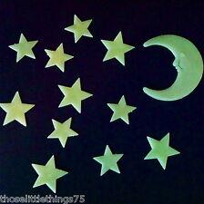 Brillano al Buio Luna & Stars IN PLASTICA FORME PER CAMERA DA LETTO SOFFITTO MURO KIDS