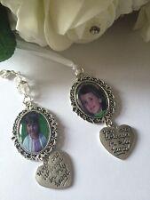 Personalised Wedding Bouquet,Memory,Memorial always in my heart charm