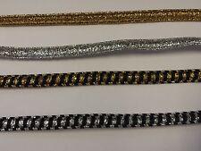 Braid Metallic President Trim 8mm Gold Silver & Black