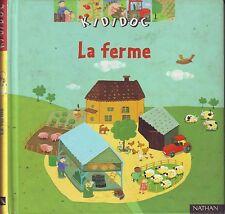 La Ferme * KIDIDOC * NATHAN * encyclopédie pour enfant  3 à 6  ans * tracteur