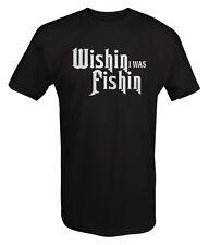 Wishin I Was Fishin Fishing Boating Bass Walleye T Shirt