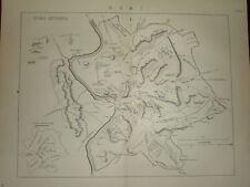 1880 ~ MAP ANTICO ROMA ~ ROMA ANTIQUA ~ ROMANS