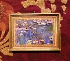 Monet Water Lillies Christmas Handmade Ornament/Magnet/Dollhouse miniature