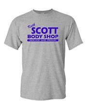 Keith Scott Body Shop Service & Repair Novelty Adult Unisex Graphic T-Shirt Tee