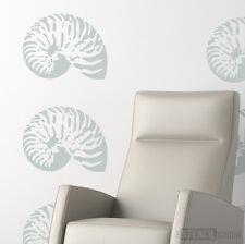 NAUTILUS SHELL Pochoir, coquillages pochoirs pour murs, couche lavable Stencils