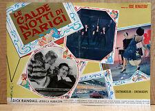 LE CALDE NOTTI DI PARIGI fotobusta poster 24 heures d'un américain à Paris AZ4