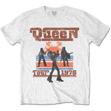 Queen Live Tour 1976 Freddie Mercury Rock Official Tee T-Shirt Mens Unisex