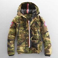 Mens Hooded Zipper Camo Cotton Coat Jacket Outwear Miltary Parka Winter Warm