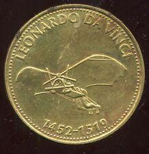 jeton SHELL   LEONARDO DA VINCI  1452 1519  ( bis )
