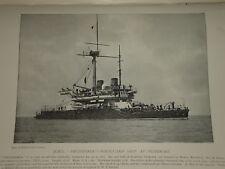 1896 H.M.S. THUNDERER ~ BATTLESHIP PORTGUARD PEMBROKE