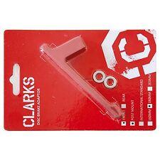 Clarks Disk-Adapter / Bremsscheibenadapter rot Vorderrad für 180 mm PM