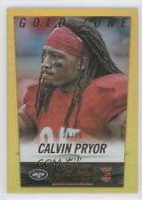 2014 Panini Hot Rookies Gold Zone #348 Calvin Pryor New York Jets Football Card