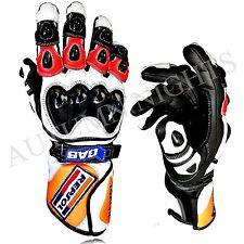 UK-Honda Repsol Motorbike Racing Leather Gloves Available -All Sizes MotoGP PRO
