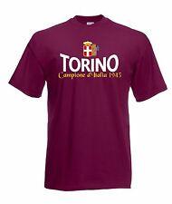 T-shirt Maglietta J1524 Torino Campione d'Italia 1943 Stemma Fascio Scudetto