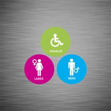 Sku059 onorevoli Gents & disattivato toilette / bagno porta segnale Adesivo 100mm e 150mm