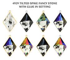 Genuine SWAROVSKI 4929 Tilted Spike Fancy Crystals with Glue in Settings