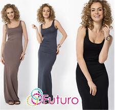 Womens Long Vest Maxi Dress Sleeveless Full Length Bodycon Plus Sizes 8-18 FM18