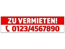 """Banner oder Aufkleber """"ZU VERMIETEN"""" PVC-Banner Spanntransparent Plane Sticker"""