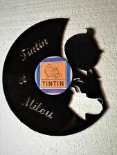 Décoration murale / horloge en disque vinyle 33 Tours - Tintin et milou