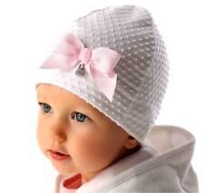 Marika Baby Mädchen Mütze 2 Bommeln Baumwollmütze Frühling Kindermütze Neu Weiß
