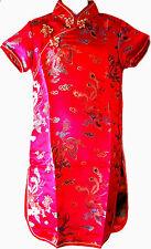 Asia Kinder Qipao/Geisha-Kostüm/Kleid Fasching/Cosplay Dress Drache Rot 92-170
