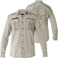 AFFLICTION Hemd Warfare Grau Hemden
