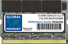 512MB DDR 333MHz PC2700 172-PIN MICRODIMM MEMORIA RAM PER PORTATILI/