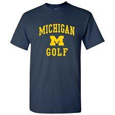 University of Michigan Wolverines Arch Logo Golf T-Shirt - Navy